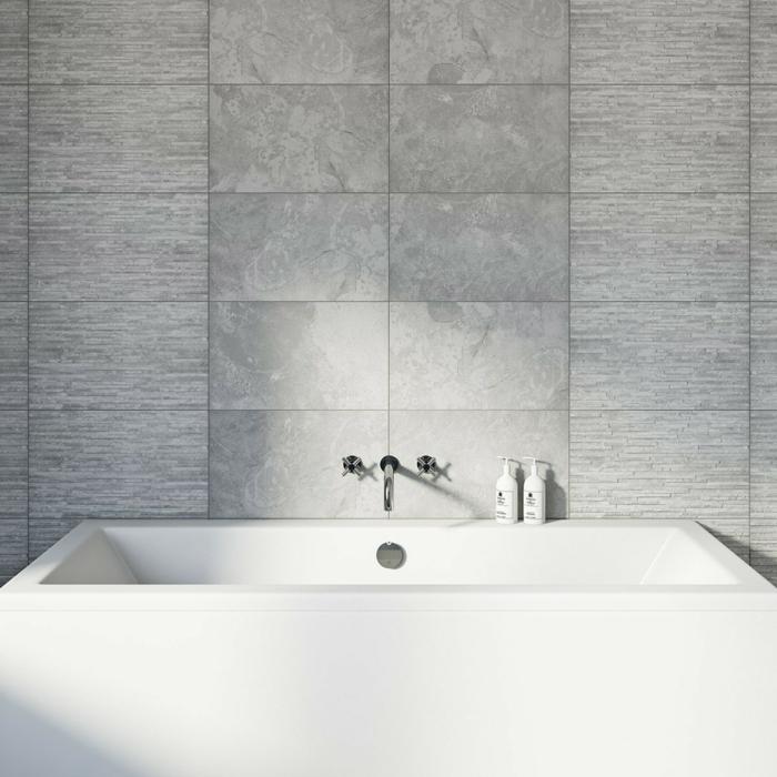 baño en estilo minimalista con paredes con azulejos de diseño, baños modernos en imágines