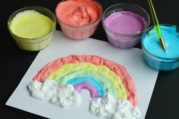 ideas de manualidades faciles para regalar en fotos, dibujo DIY con espuma en diferente colores