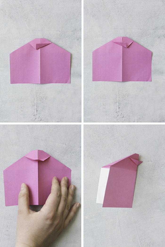 bontias ideas de manualidades fáciles de hacer con papel, papel en morado, origami fácil paso a paso