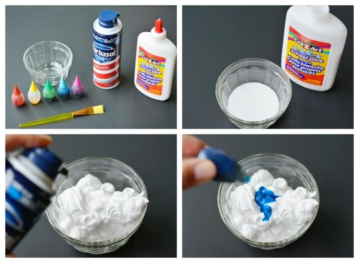 materiales necesarios para hacer una espuma decorativa, manualidades para niños faciles y divertidas