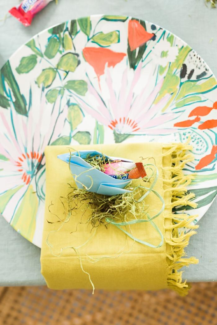 decoración original para Pascua, pequeños pollos de papel DIY, origami fácil y original con tutorial