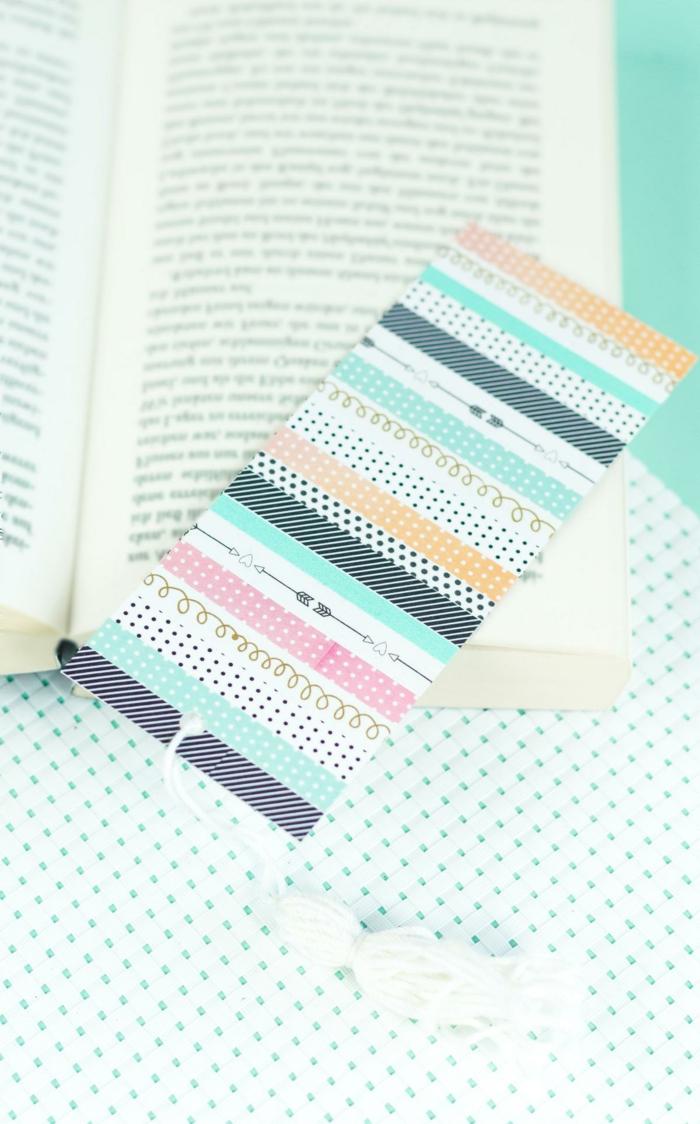 coloridos separadores hechos de cartón paso a paso, ideas de bonitas manualidades para regalar