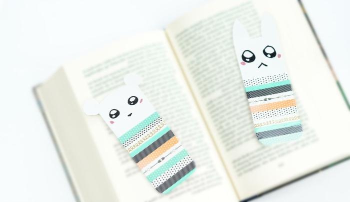 manualidades para regalar simpáticos, separadores de libros para los pequeños hechos de cartón