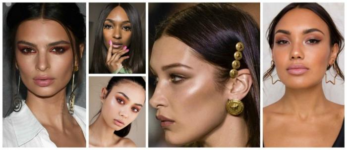 labios gordos pintados en tonos nude, últimas tendencias en maquillaje primavera verano 2018