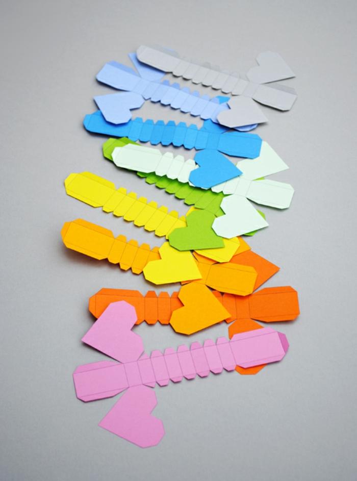 ideas de papiroflexia para niños, corazones 3D fáciles de hacer, corazones tridimensionales paso a paso