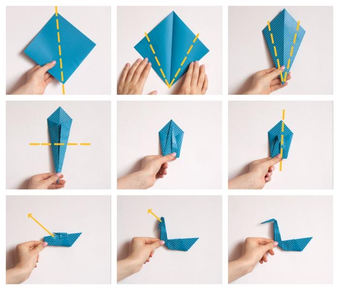 tutoriales sobre como hacer un cisne DIY con papel, ideas de papiroflexia animales para niños y adultos