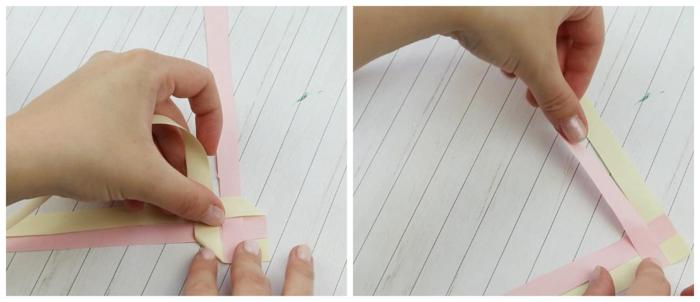 manualidades para regalar paso a paso, como hacer marcarpaginas trenzados hechos de papel