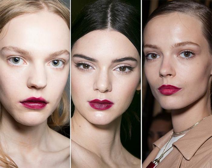 como pintar labios finos trucos y consejos, tendencias en los colores 2018, labios en bordeos oscuro