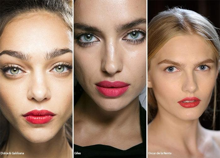 como maquillarse como las celebridades, colores y texturas en tendencia, labios en los tonos del rojo acabado mate