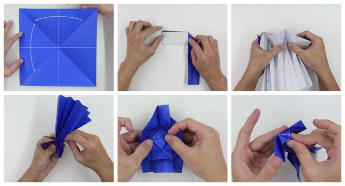 pasos para hacer un Darth Vader de papel, papiroflexia para niños con tutoriales en imágines
