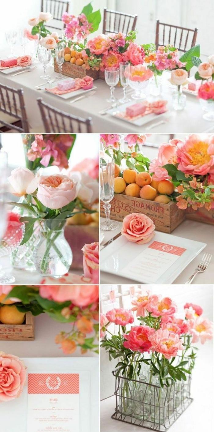 ideas de manualidades originales para decorar la casa, diferentes ideas de centros de mesa con flores