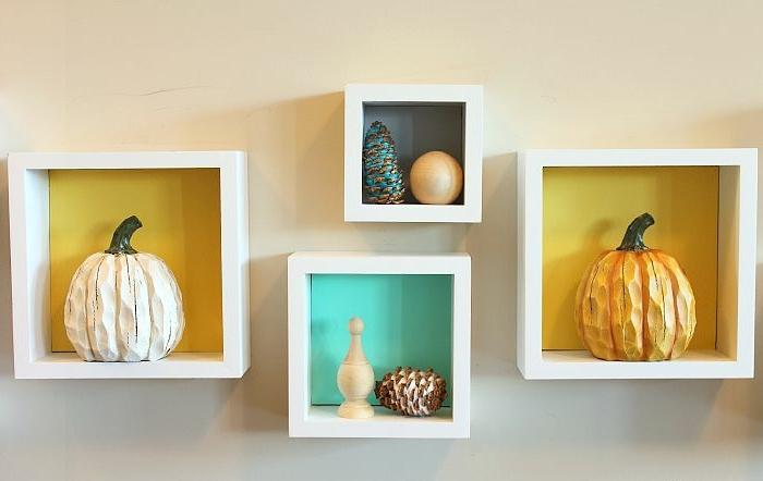 decoración DIY con calabazas y piñas, ideas de manualidades fáciles y rápidas con reciclaje