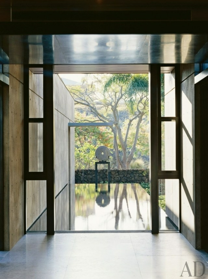 recibidor moderno decorado en estilo minimalista sin decoracion, entraditas y recibidores 2018 2019