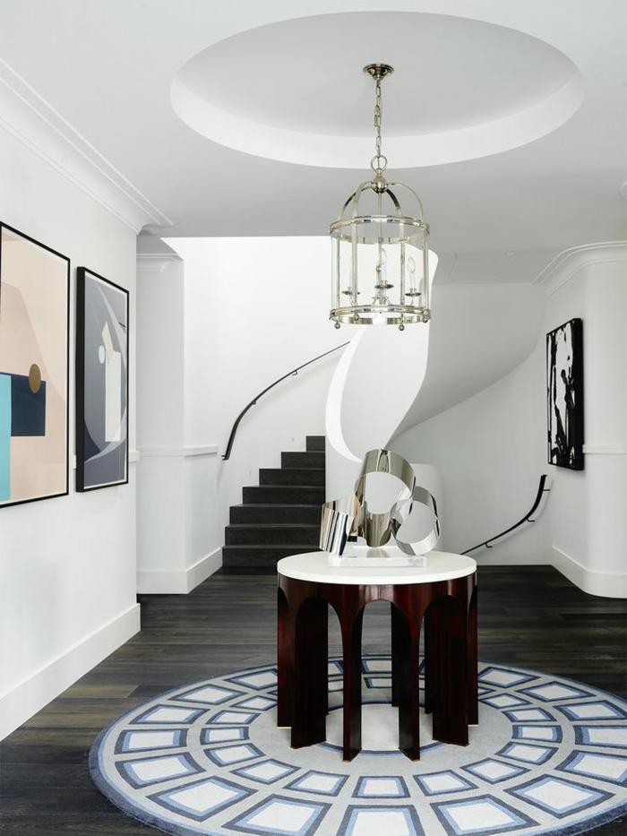 entraditas y recibidores decorados según las top tendencias, decoración de recibidor en colores claros y muebles de diseño