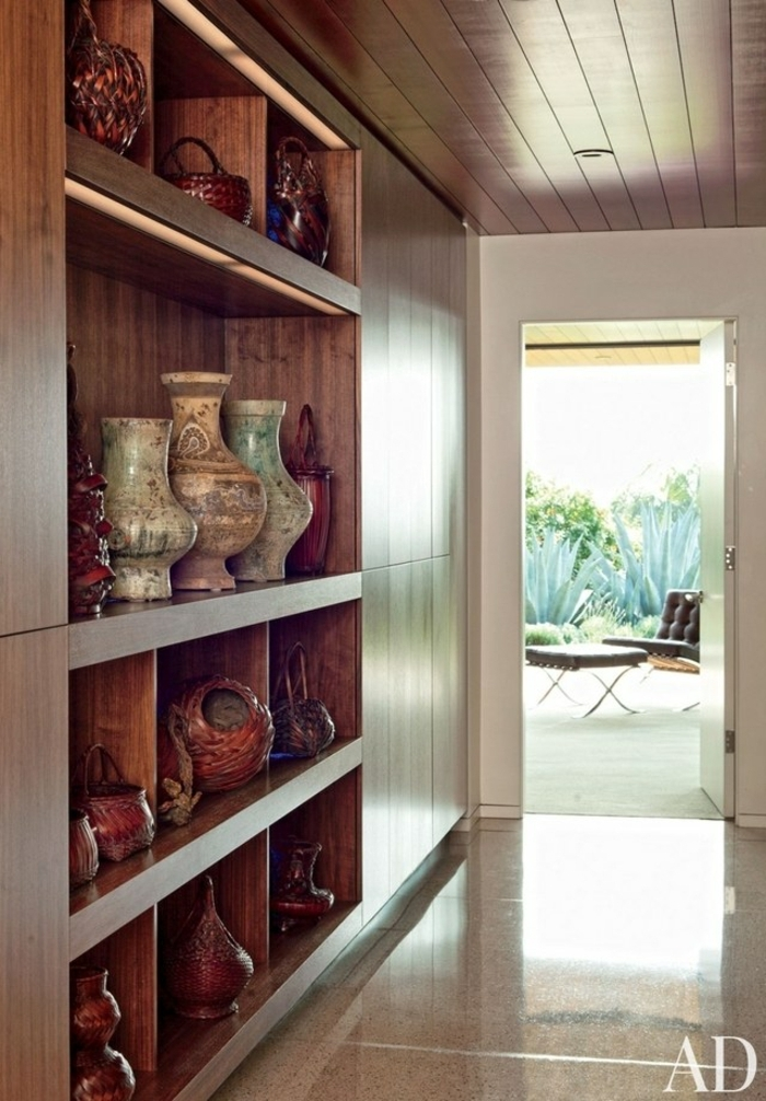 ideas de recibidores estrechos decorados según las últimas tendencias, espacio decorado en estilo rústico moderno