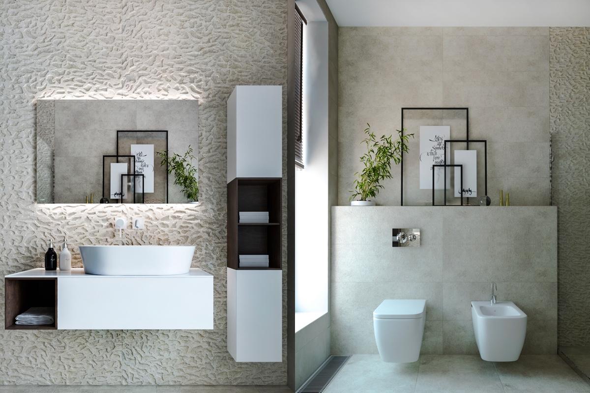 1001 ideas de decoraci n de ba o gris y blanco for Banos blancos
