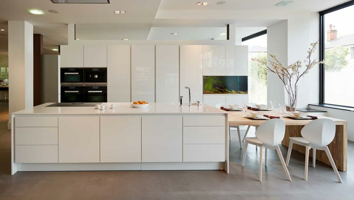 ▷ 1001 + ideas de decoración de cocinas modernas blancas