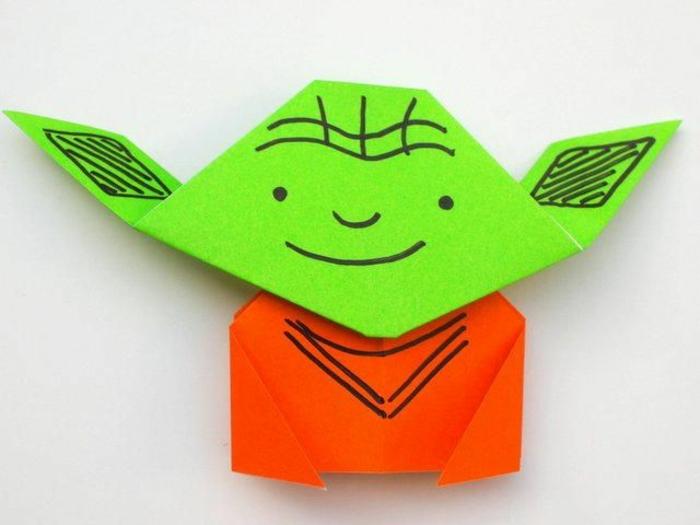 ideas originales de papiroflexia para niños, héroes de películas, pequeña figura hecha de papel