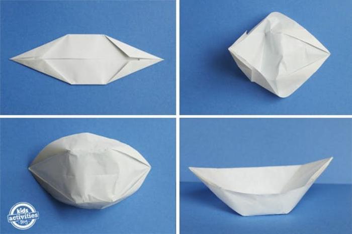 como hacer un barco de papel paso a paso, manualidades fáciles para hacer en casa, pairoflexia facil para niños