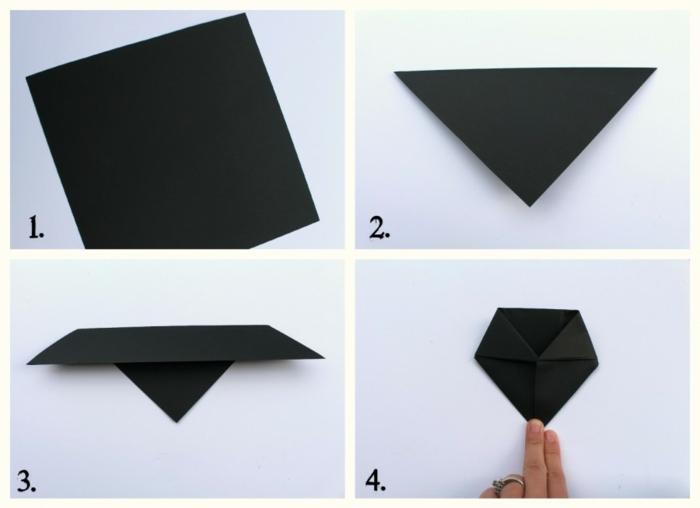 ideas super fáciles y divertidas de papiroflexia animales, murciélago hecho de papel paso a paso