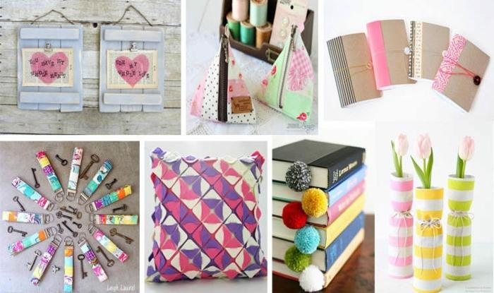 ideas para regalar a una amiga, diferentes ideas de regalos que podemos hacer en casa, colores, marcapáginas