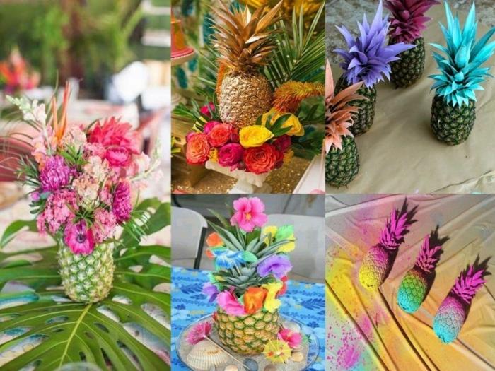 ideas para regalar a una amiga, piñas coloridas de diferentes colores, ideas de como utilizarlas en el tiempo libre