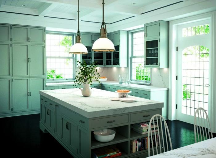 1001 ideas de decoraci n de cocinas modernas blancas - Imagenes de cocinas integrales pequenas modernas ...