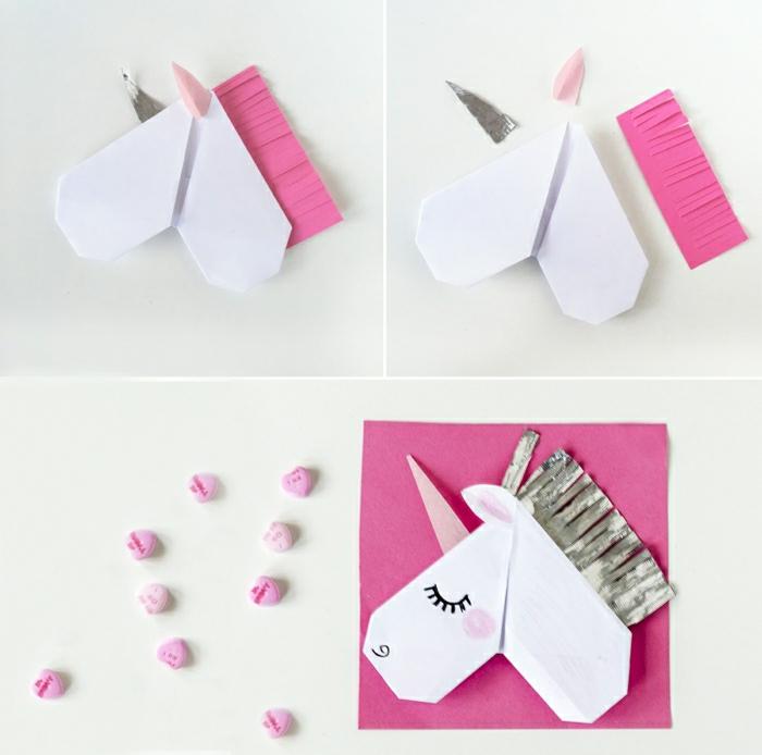 como hacer un separador de libros unicornio paso a paso, originales ideas con papel originami