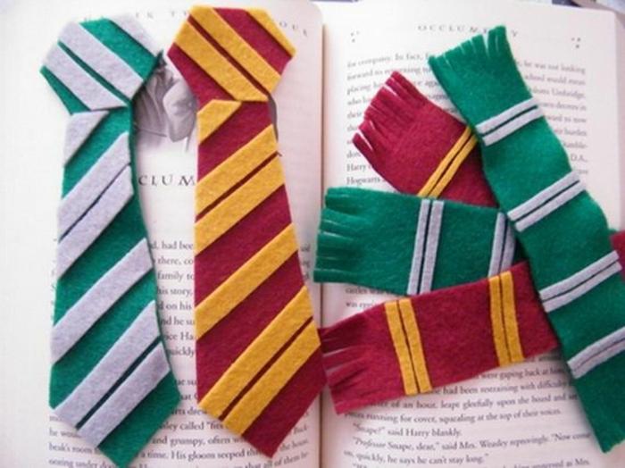 marcarpaginas hechos de lana personalizados, ingeniosas ideas para los fans de Harry Potter