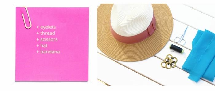 materiales que necesitas para decorar un sombrero de verano, manualidades caseras