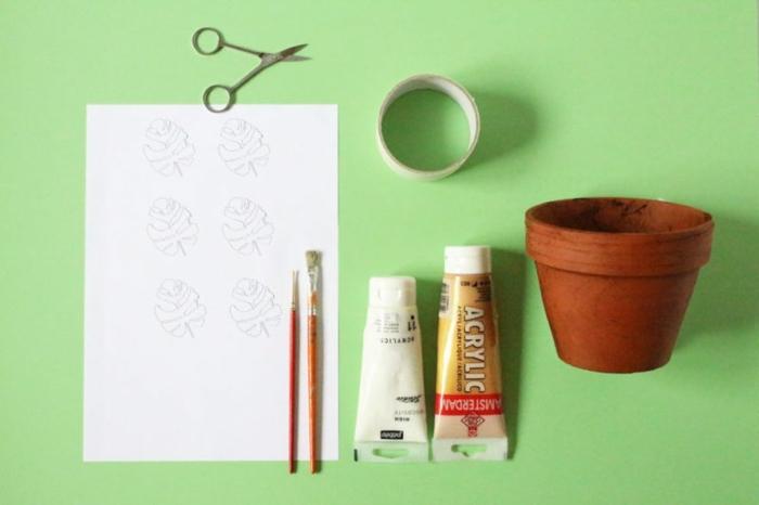 manualidades faciles para regalar fáciles de hacer, materiales necesarios para decorar una pequeña maceta