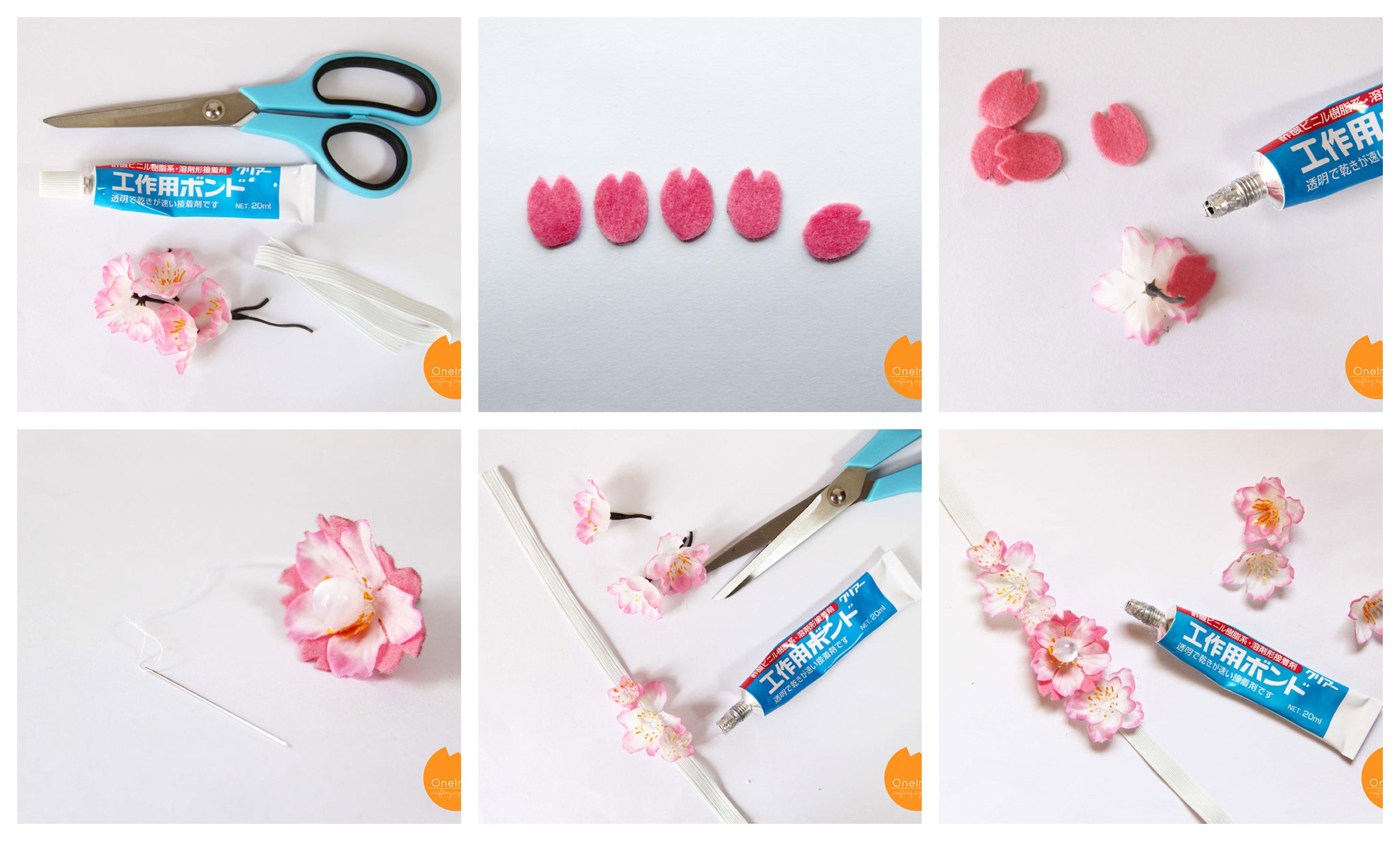 pasos para hacer un marcarpáginas personalizado decorado de flores artificiales, como hacer marcarpaginas ideas