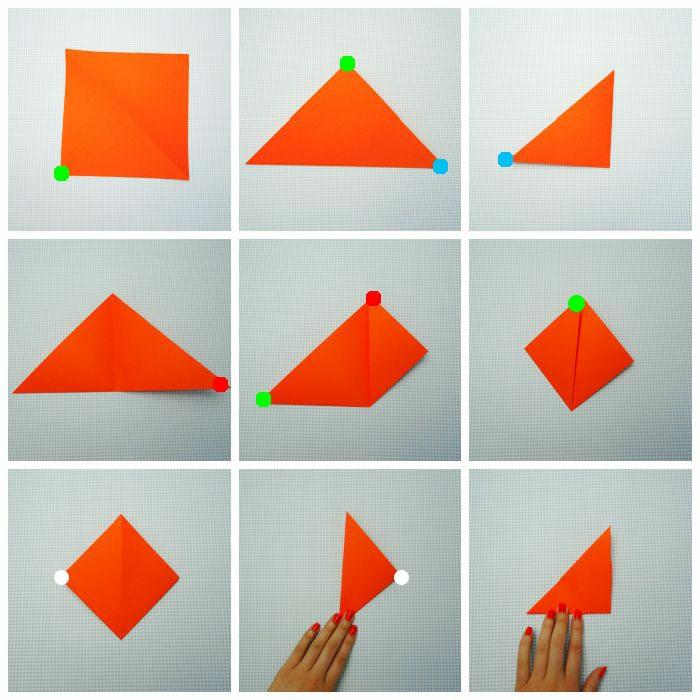 figuras de origami para los niños, ideas sobre como hacer papiroflexia paso a paso, zorro origami DIY