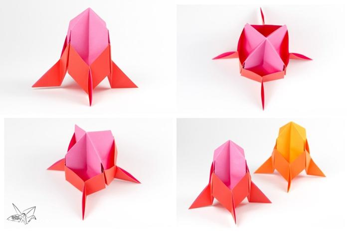 naves espaciales hechos de papel paso a paso, manualidades fáciles de hacer en casa, ideas para niños