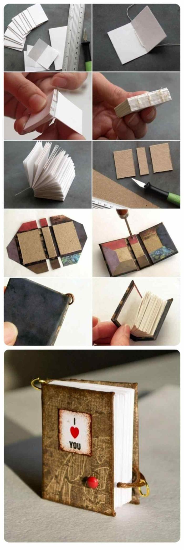 regalos originales para tu mejor amiga, libro hecho de papeles y cartón decorado con tela, especial para mejor amiga