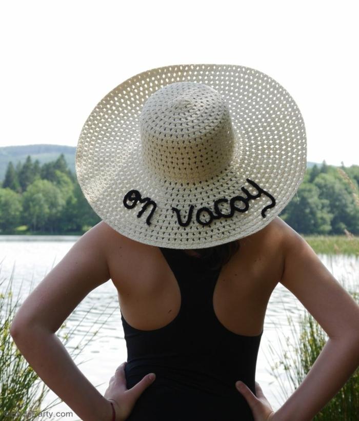 decoracion DIY de encanto sombrero de verano, manualidades fáciles y rápidas paso a paso