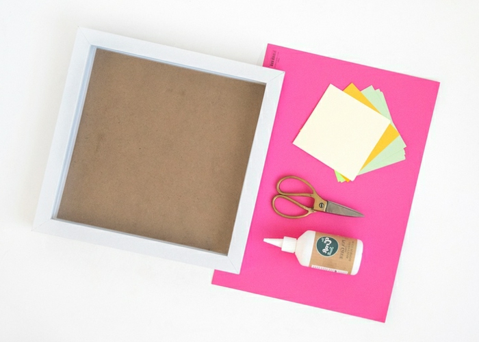 sorpresas de cumpleaños para amigas, materiales necesarios para hacer marco con origami de cactus