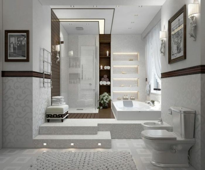 suelo hidraulico imitacion, suelo con baldosas de color blanco y gris de cuadros, cuadros en blanco y negro