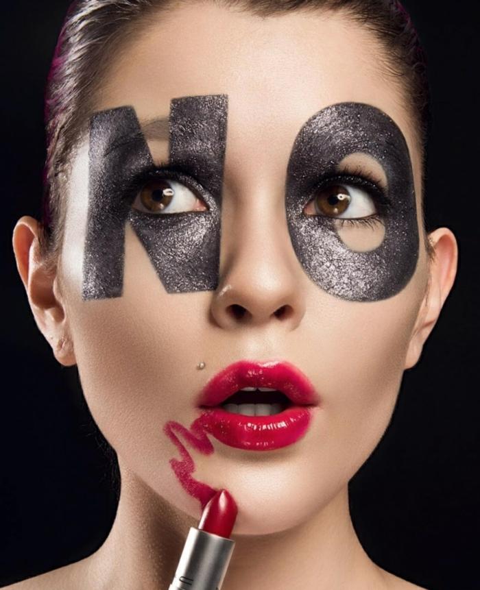 maquillaje halloween facil y elegante, maquillaje original de bruja glam, ideas super sencillas y atractivas