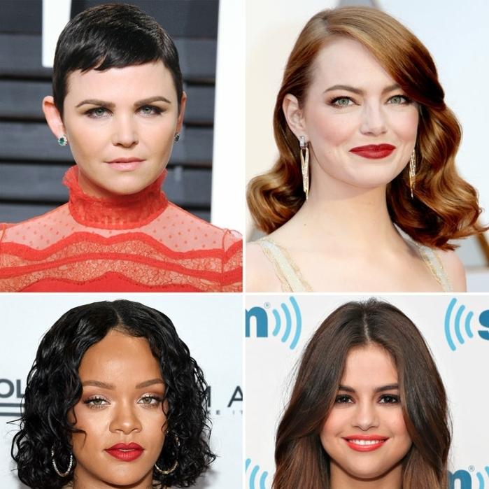 cortes de pelo para cara alargada, cuadrada, oval y triangular, ultimas tendencias de cortes de pelo mujer
