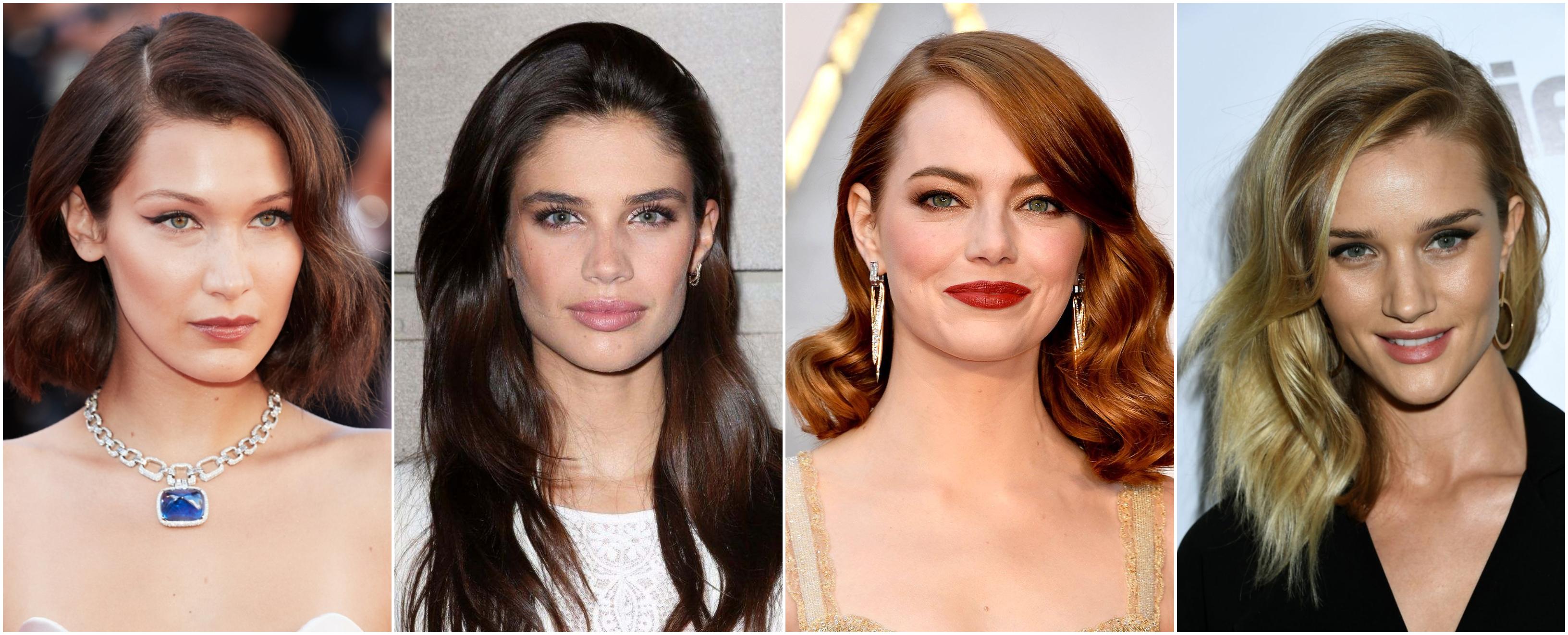 cortes de pelo mujer segun rostro, inspiración de la alfombra roja, forma de rostro ovalada, cuadrada, redonda y triangular