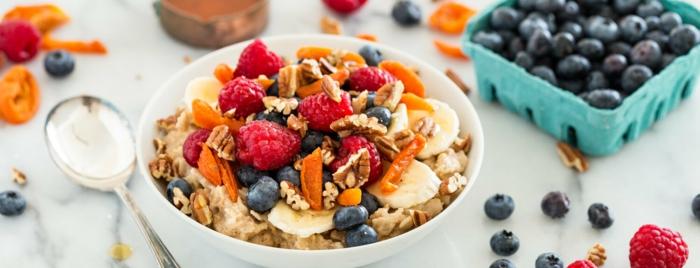 desayunos saludables para hacer en casa, ideas de desayunos con frutas y avenas en imágines