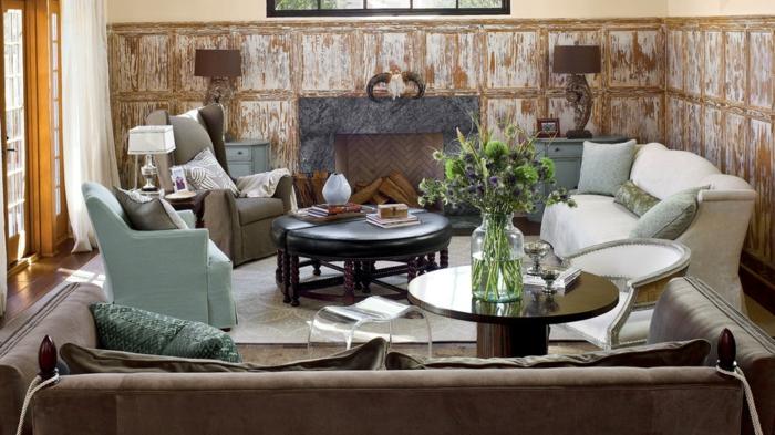 preciosos salones modernos con chimenea, decoración de encanto, pequeño salón super acogedor, decoración en colores terrestres