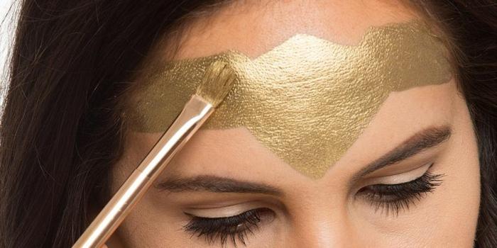 como conseguir un maquillaje para halloween facil y atractivo, la mujer maravilla tutorial paso a paso