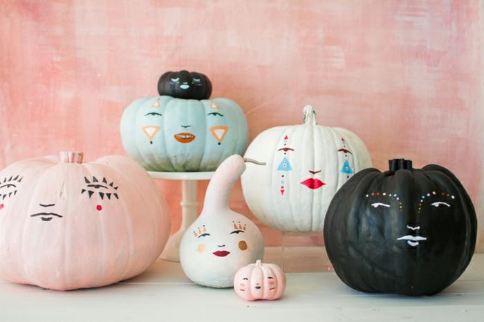 1001 ideas de calabazas decoradas para el oto o - Calabazas de halloween pintadas ...