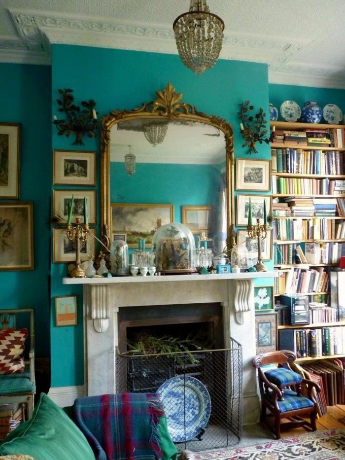 precioso espacio decorado en estilo vintage, las mejores imágines de salones rusticos con chimenea