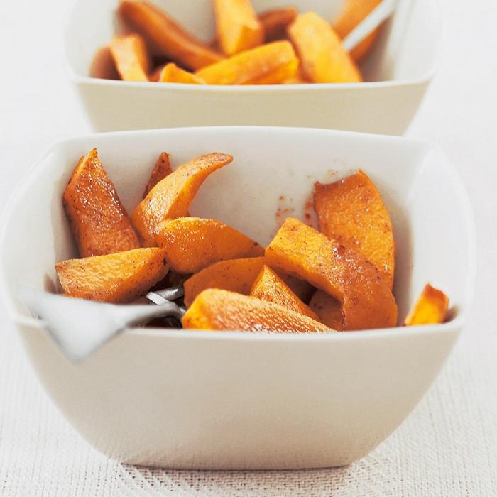 peque;os apiritivos super ricos con calabaza, calabaza al horno salada, ideas de recetas originales y fáciles de hacer