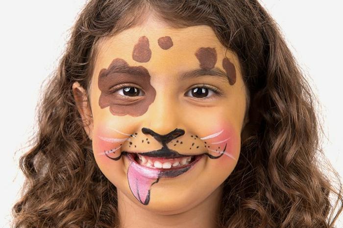 maquillaje para halloween fácil paso a paso, cara de perro super fácil de hacer, maquillajes y disfraces caseros Halloween