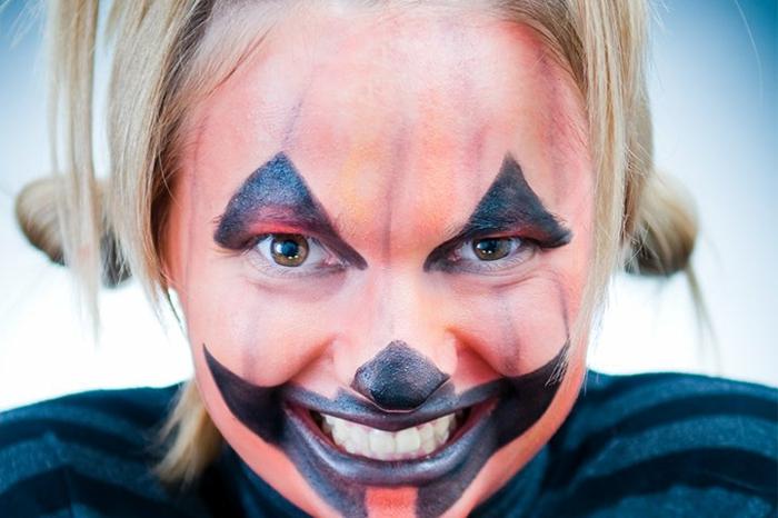 ideas originales y divertidas de maquillaje halloween facil, maquillaje infantil de calabaza