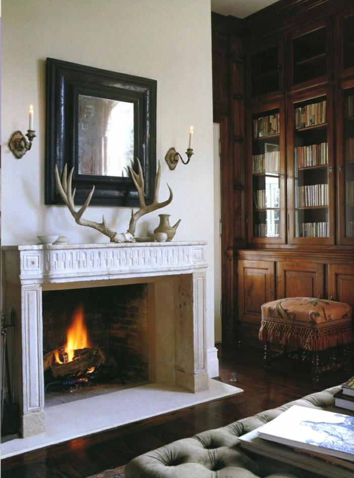 preciosas chimeneas rusticas de leña, salón en estilo rústico con chimenea francesa, muebles de madera de época